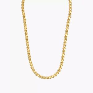 Madewell Chunky Curb Chain Necklace Vintage Gold